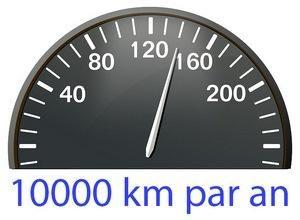Prix de l'assurance auto si vous roulez 10000 km par an