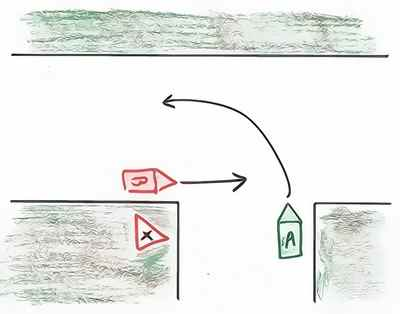 accident non respect cédez le passage