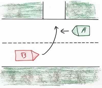 Accident auto et responsabilité en cas de changement de file de circulation entre véhicules roulant en sens inverse