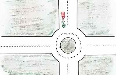 accident auto entrée rond=point
